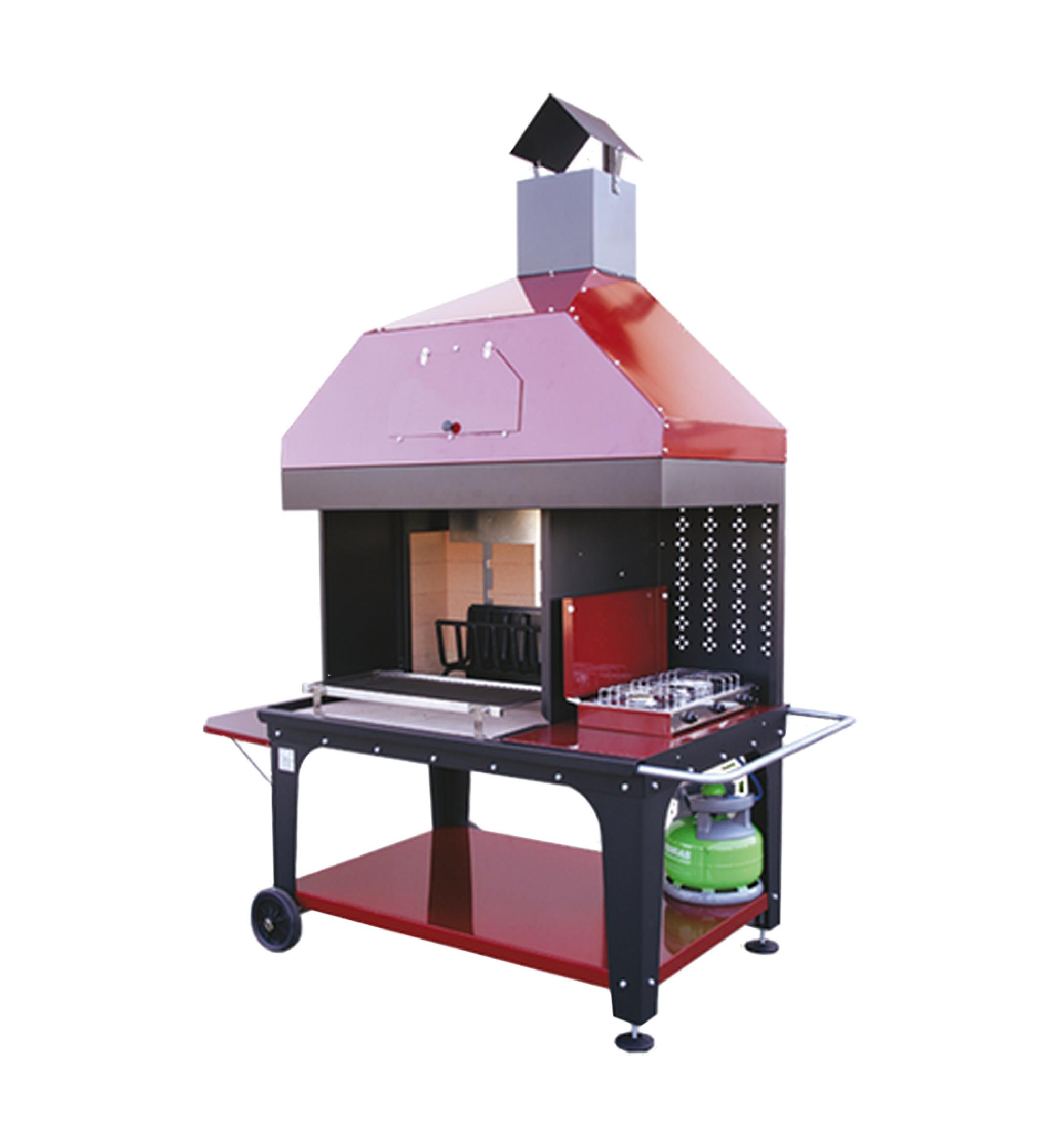 Forno A Legna Con Camino caminetto barbecue mod. combined