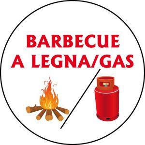 Barbecue a legna/gas multiuso