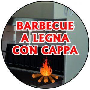 Barbecue a legna con cappa