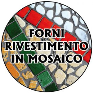 Forno rivestimento in mosaico