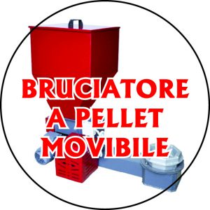 Bruciatori a pellets movibile/carellato